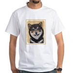 Shiba Inu (Black and Tan) White T-Shirt