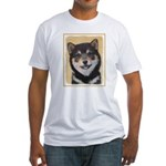 Shiba Inu (Black and Tan) Fitted T-Shirt