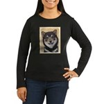 Shiba Inu (Black Women's Long Sleeve Dark T-Shirt