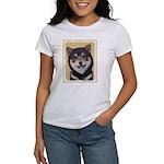 Shiba Inu (Black and Women's Classic White T-Shirt