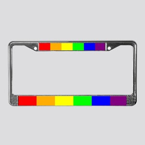 License Plate Frame - Rainbow Sharp