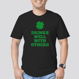 Drinks Well With Others Men's Fitted T-Shirt (dark