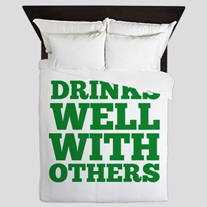 Drinks Well With Others Queen Duvet
