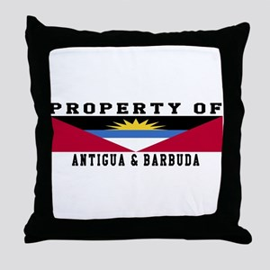 Property Of Antigua and Barbuda Throw Pillow