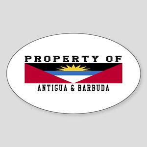 Property Of Antigua and Barbuda Sticker (Oval)