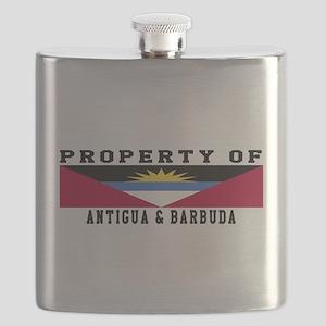 Property Of Antigua and Barbuda Flask