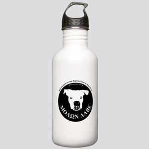 Molon Labe (dog head) Water Bottle