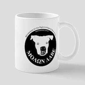 Molon Labe (dog head) Mug