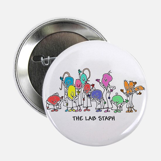 "The Lab Staph 2.25"" Button"