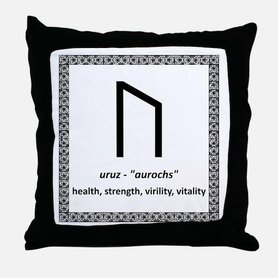 Uruz Throw Pillow