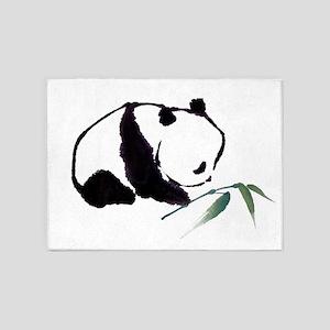 Chinese Panda art 5'x7'Area Rug