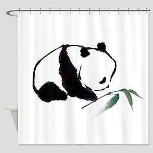Chinese Panda art Shower Curtain