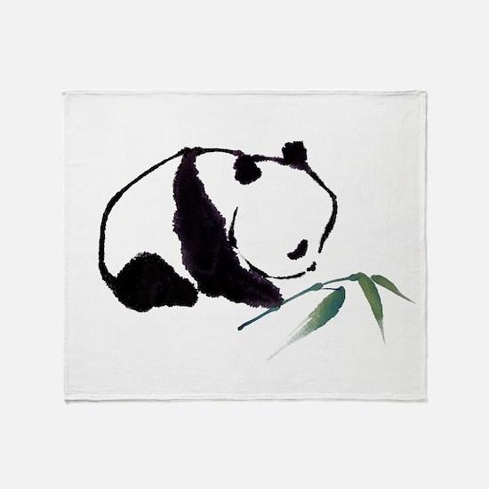 Chinese Panda art Throw Blanket