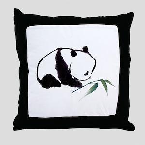 Chinese Panda art Throw Pillow