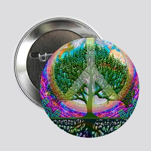 """Tree of Life World Peace 2.25"""" Button"""