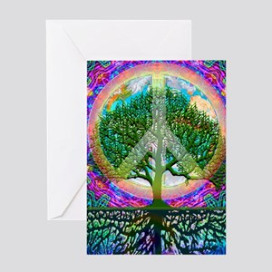 Tree of Life World Peace Greeting Card