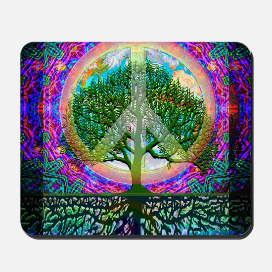 Tree of Life World Peace Mousepad
