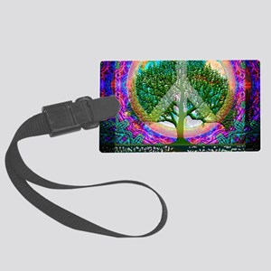 Tree of Life World Peace Luggage Tag