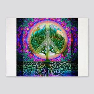 Tree of Life World Peace 5'x7'Area Rug