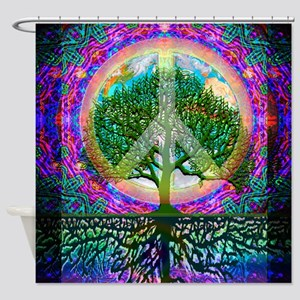 Tree Of Life World Peace Shower Curtain