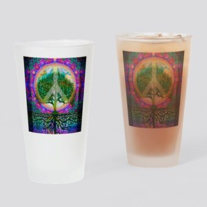 Tree of Life World Peace Drinking Glass