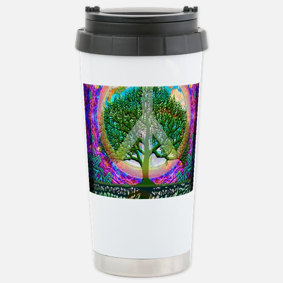 Tree of Life World Peace Travel Mug