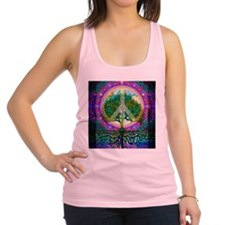 Tree of Life World Peace Racerback Tank Top