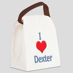 I Heart Dexter Canvas Lunch Bag