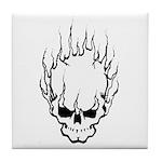 Smokin' Skull Tile Coaster