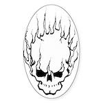 Smokin' Skull Oval Sticker