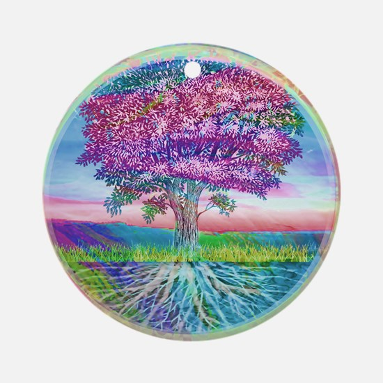 Tree of Life Blessings Ornament (Round)