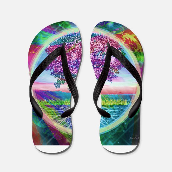 Tree of Life Blessings Flip Flops
