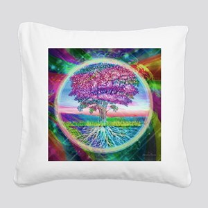 Tree of Life Blessings Square Canvas Pillow