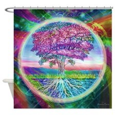 Tree of Life Blessings Shower Curtain
