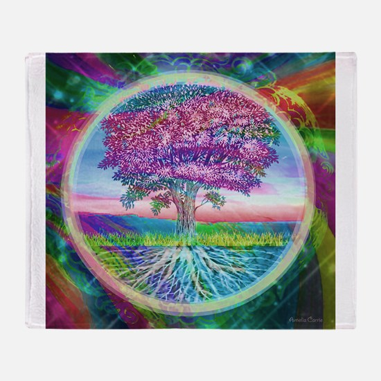 Tree of Life Blessings Throw Blanket