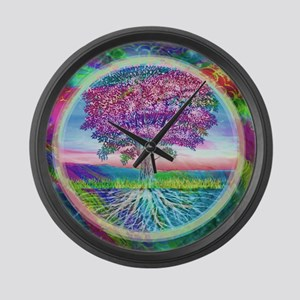 Tree of Life Blessings Large Wall Clock