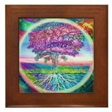 Tree of Life Blessings Framed Tile