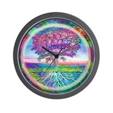 Tree of Life Blessings Wall Clock