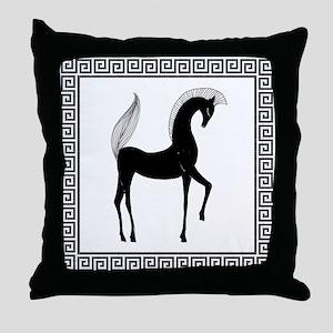 greek horse pillow Throw Pillow