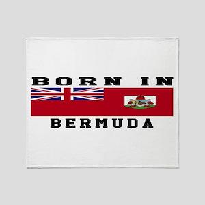 Born In Bermuda Throw Blanket