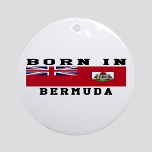 Born In Bermuda Ornament (Round)