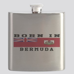 Born In Bermuda Flask
