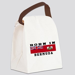Born In Bermuda Canvas Lunch Bag