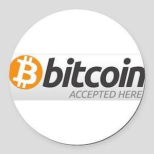 Bitcoin-7 Round Car Magnet