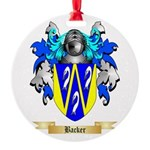 Backer Round Ornament