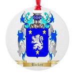 Backen Round Ornament