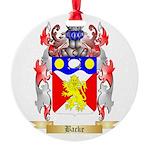 Backe Round Ornament