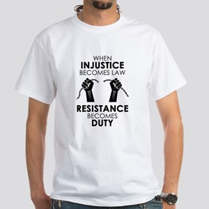 Injustice White T-Shirt