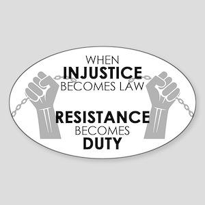 Injustice Sticker (oval)