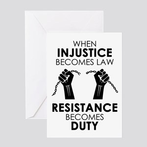 Injustice Card Greeting Cards